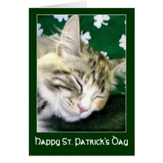 Carte Le chat irlandais rêve le jour de St Patrick