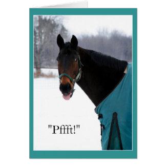 Carte Le cheval drôle envoie l'acclamation de Bronx