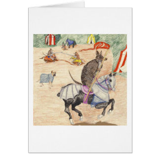 Carte Le chevalier dans l'armure brillante