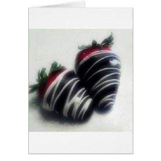 Carte Le chocolat a plongé des fraises