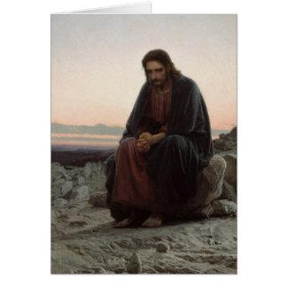 Carte Le Christ dans le désert