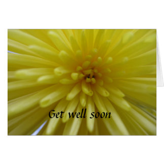 Carte Le chrysanthème jaune, obtiennent bien bientôt