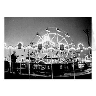 Carte Le cirque Klamath vintage de tours de carnaval