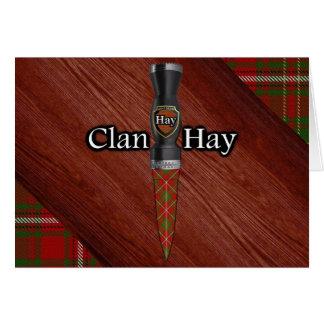 Carte Le clan font les foins la lame de Sgian Dubh de