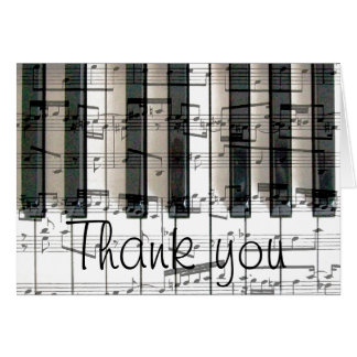 Carte le clavier de piano vous remercient