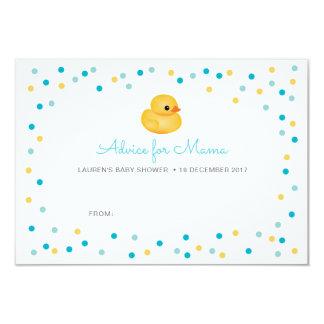 Carte Le conseil de baby shower carde le canard en