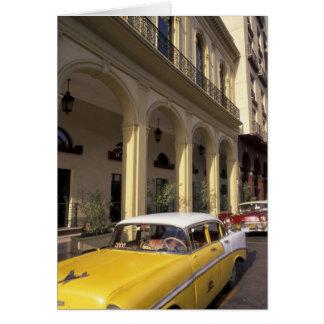 Carte Le Cuba, La Havane. Chevy coloré des années 1950