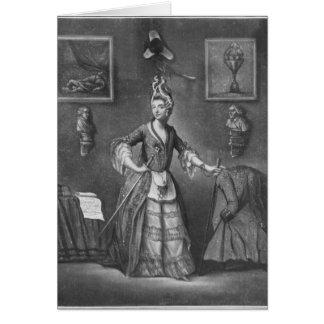 Carte Le d'Eon de chevalier, habillé en tant que femme