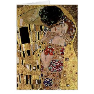 Carte Le détail de baiser de Gustav Klimt (circa 1908)