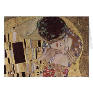 Carte Le détail de baiser - Gustav Klimt
