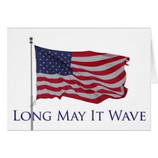 Carte le drapeau américain, longtemps peut il onduler la