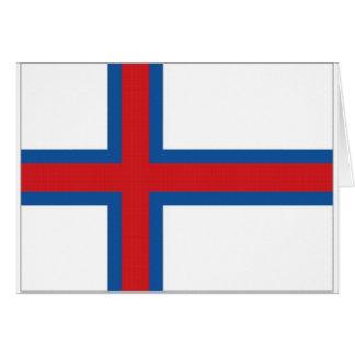 Carte Le drapeau de territoire des Iles Féroé