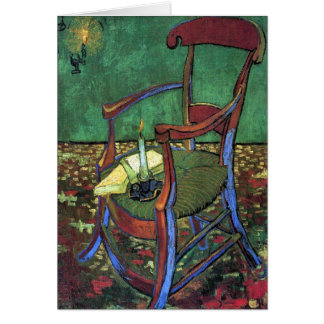 Carte Le fauteuil de Paul Gauguin par Vincent van Gogh