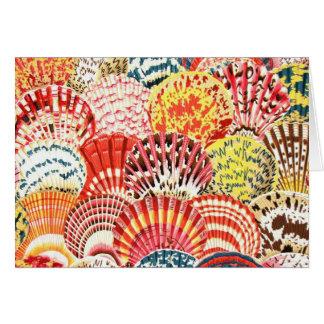 Carte Le feston Shell de tissu de Philip Jacobs cardent