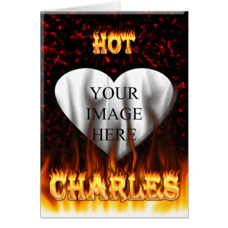 Carte Le feu chaud de Charles et marbre rouge