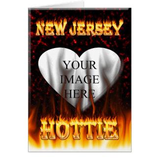 Carte Le feu de Hottie de New Jersey et coeur de marbre