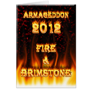Carte Le feu du feu et de soufre et marbre rouge