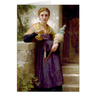 Carte Le fileur - William-Adolphe Bouguereau