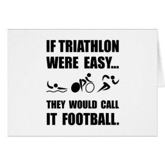 Carte Le football de triathlon