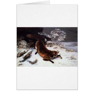 Carte Le Fox dans la neige par Gustave Courbet