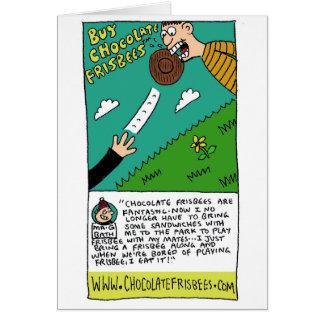 Carte Le frisbee de chocolat charrient l'annonce par Sam