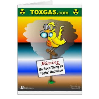 Carte Le gaz peut canari