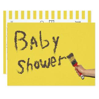 Carte Le genre de baby shower indiquent peint à la main