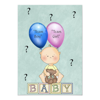 Carte Le genre de bébé indiquent l'invitation de partie