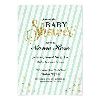 Carte Le genre de fille de garçon de baby shower