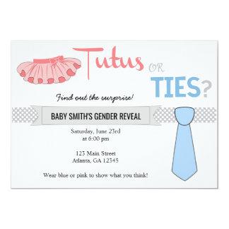 Carte Le genre de tutus ou de cravates indiquent des