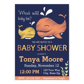 Carte Le genre indiquent l'invitation de baby shower de