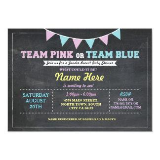 Carte Le genre rose ou bleu d'équipe indiquent