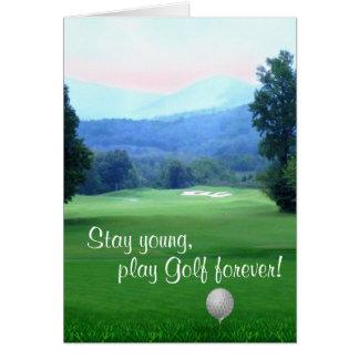 Carte Le golf de jeu, restent le jeune joyeux