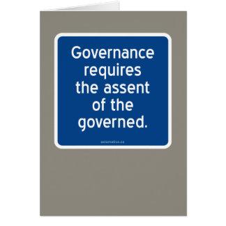 Carte Le gouvernement exige le consentement du régi