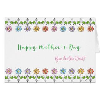 Carte Le ❤️ heureux du jour de mère vous êtes les