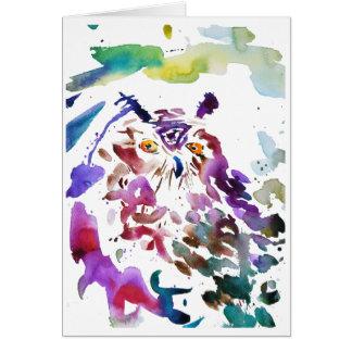 Carte '' Le hibou ''