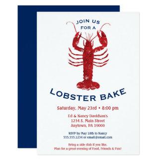 Carte Le homard font le dîner cuire au four de fruits de