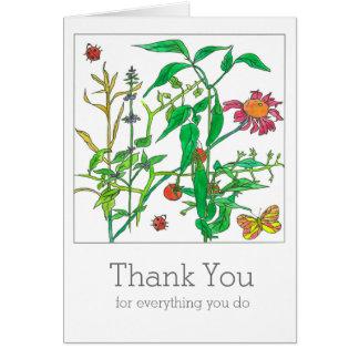 Carte Le Jalapeno de légumes de jardin poivre le Merci