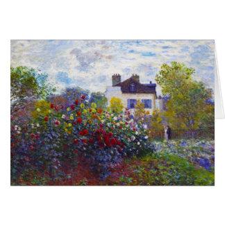 Carte Le jardin de Monet à Argenteuil Claude Monet
