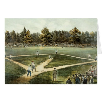 Carte Le jeu national américain du base-ball