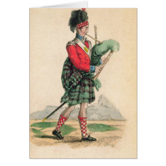 Carte Le joueur de pipeau écossais