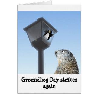 Carte Le jour de Groundhog frappe encore