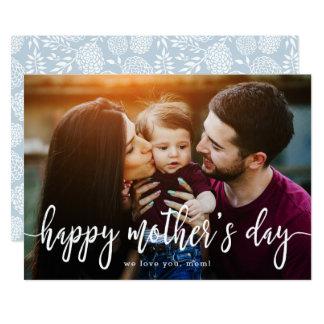Carte Le jour de mère élégant de photo des textes