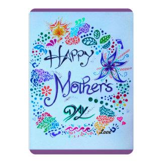 Carte Le jour de mère heureux fait main