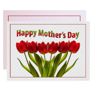 Carte Le jour de mère heureux : Rangée des tulipes