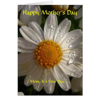 Carte Le jour de mère heureux, sentimental