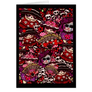Carte Le jour des morts gribouille Dia de los Muertos