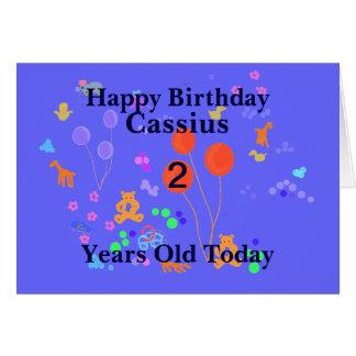 Carte Le joyeux anniversaire 2 ans ajoutent le nom
