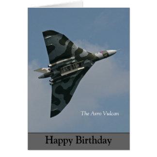 Carte Le joyeux anniversaire d'Avro Vulcan