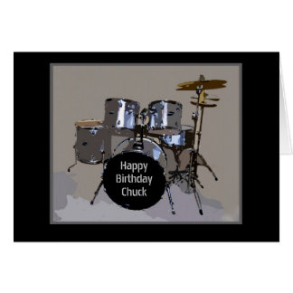 Carte Le joyeux anniversaire de mandrin bat du tambour